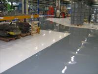 Bodenbeschichtung glatt Produktion