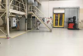 nachher fertige Quarzsandbeschichtung mit Chemikalienbeeständigkeit, Gleitreibekoefiziert
